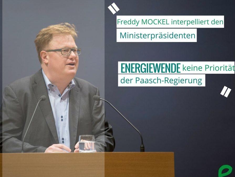 Energiewende keine Priorität der Paasch-Regierung?!