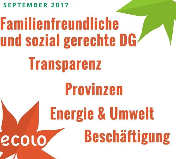 Reaktionen der ECOLO-Fraktion auf die Regierungserklärung