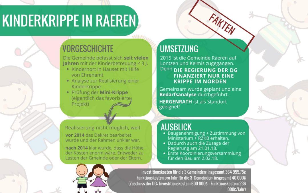 Fakten zur Kinderkrippe in Raeren