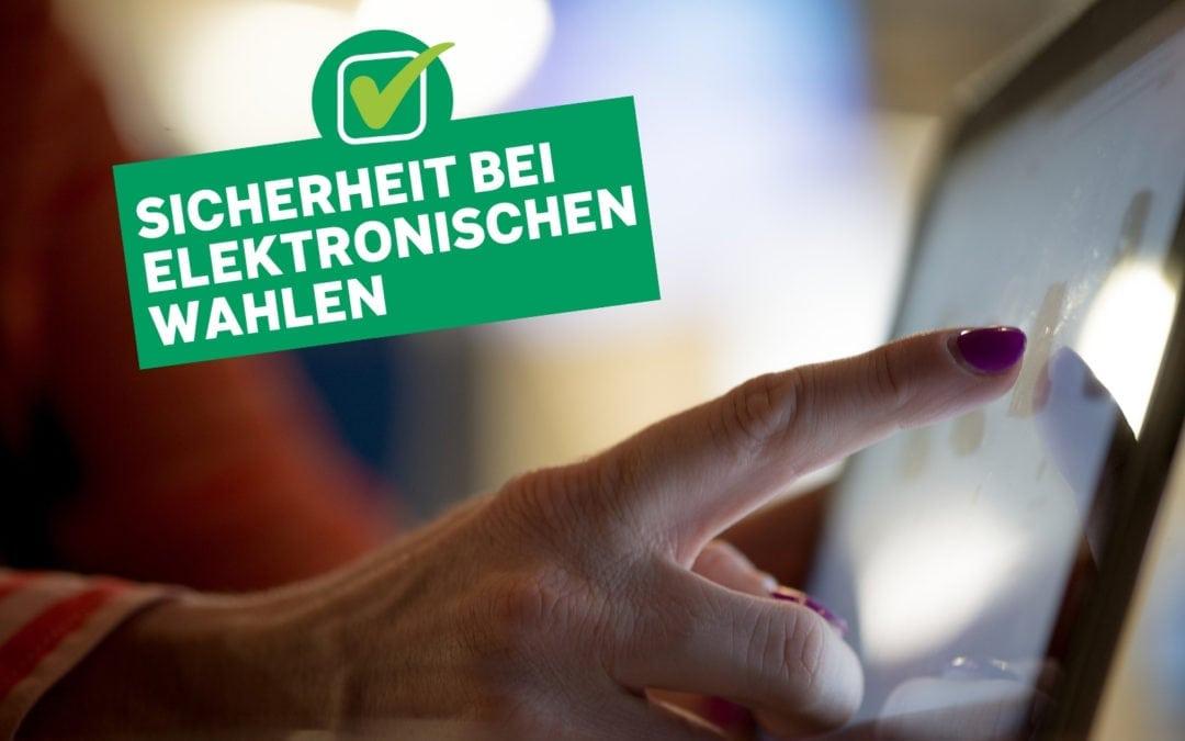 Sicherheit bei elektronischen Wahlen