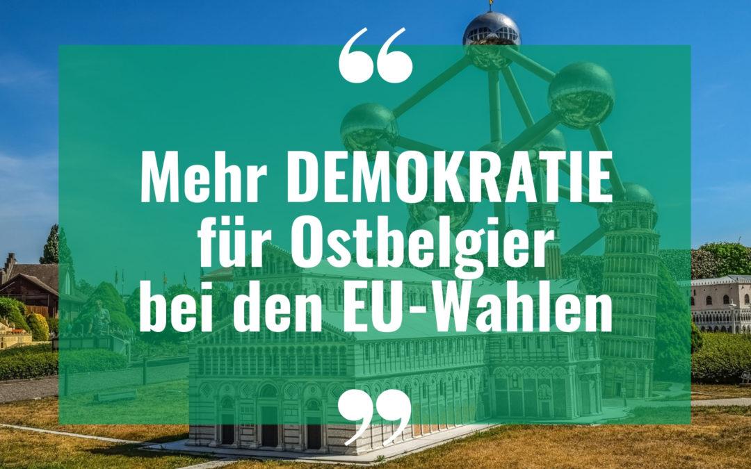 Mehr Demokratie für Ostbelgier bei den EU-Wahlen
