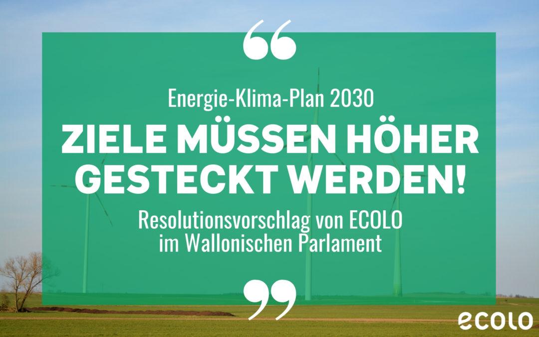 Klima: Wallonische Klimaziele durch ECOLO Resolution höher gesteckt