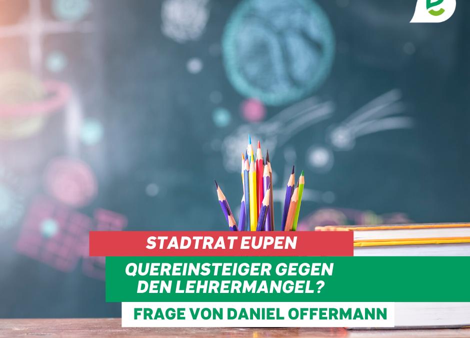 Stadtrat Eupen: Diskussion zu Lehrermangel