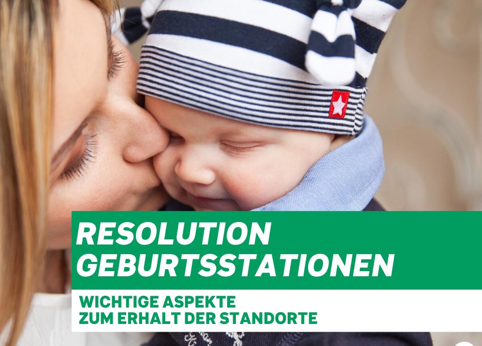 Inga Voss zur Resolution zur Absicherung der Standorte der Geburtenstationen