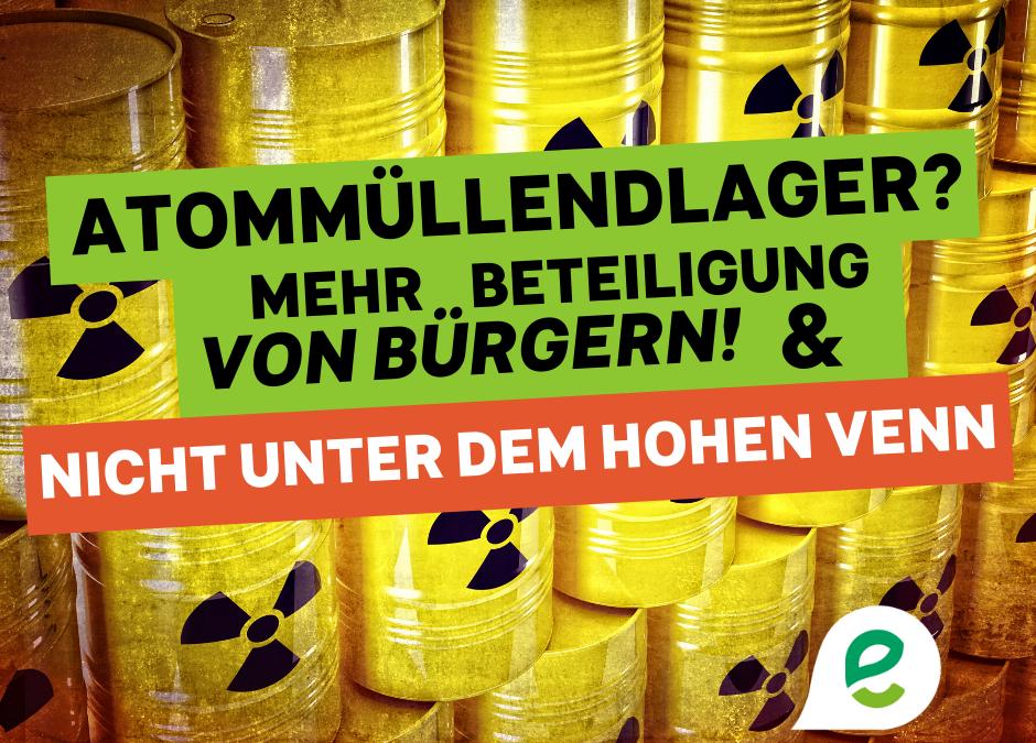 Ecolo Ostbelgien kritisiert Vorgehensweise der ONDRAF bei Endlagersuche