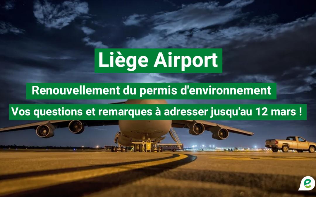 Flughafen Lüttich – Umweltverträglichkeitsstudie: Bürger sind eingeladen, sich zu äußern